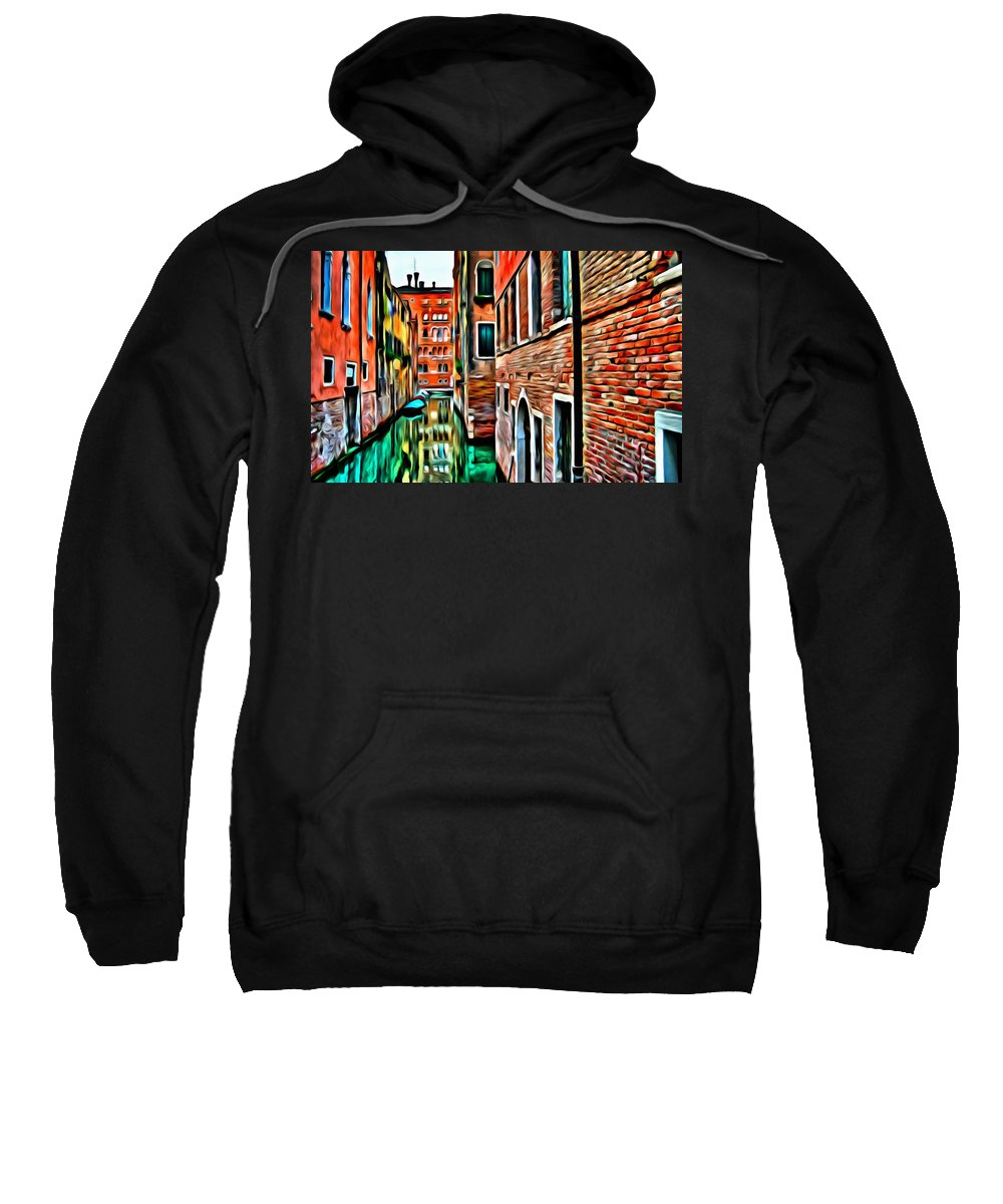 Venice Sweatshirt featuring the painting Venezia Mi Amor by Florian Rodarte