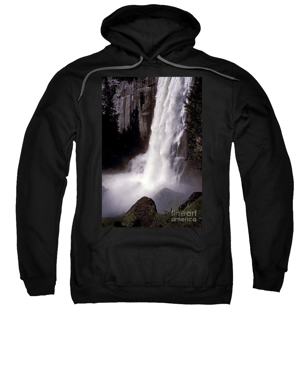 Waterfalls Sweatshirt featuring the photograph Vernal Falls 6611 by Paul W Faust - Impressions of Light