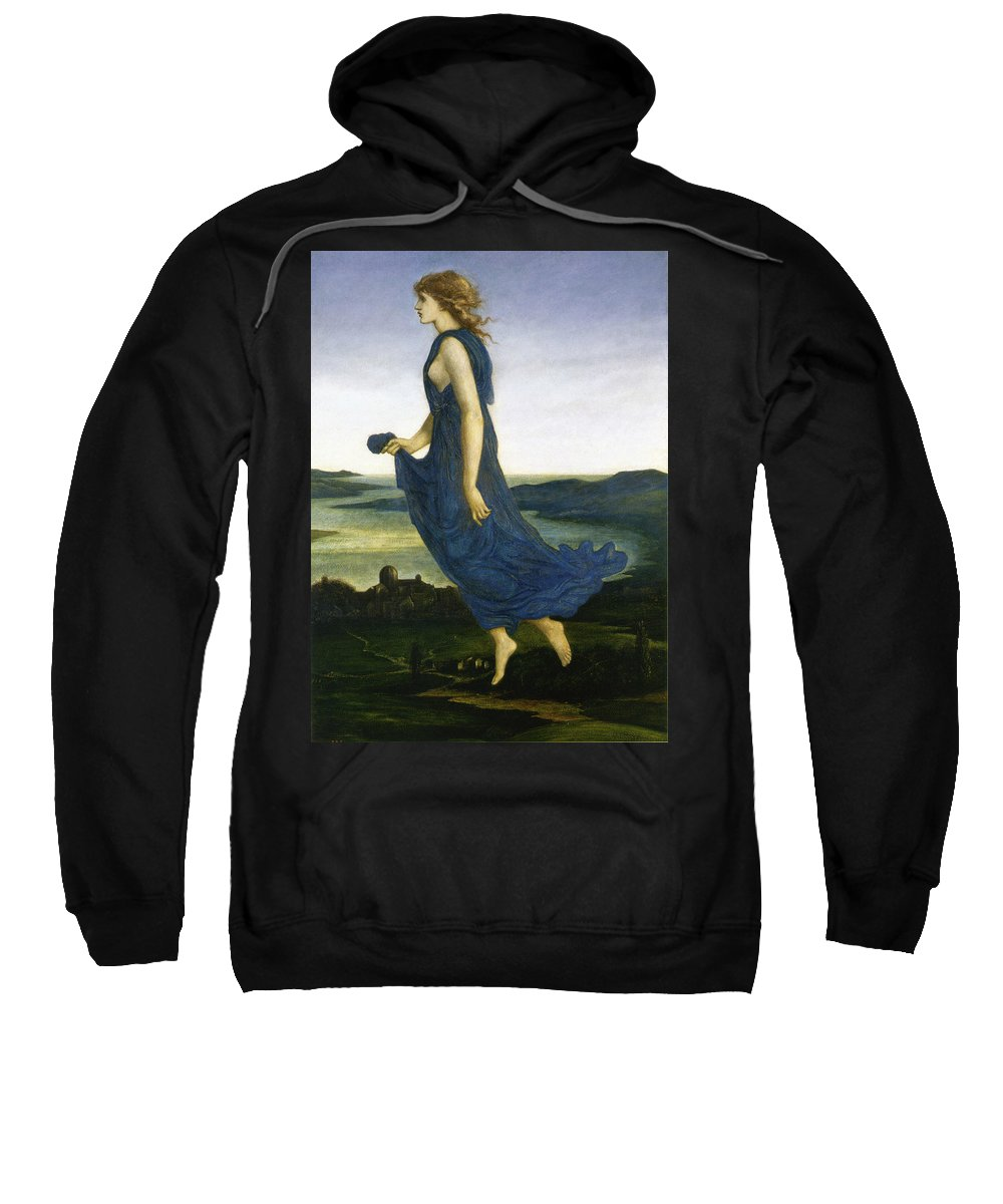 Edward Burne Jones Sweatshirt featuring the digital art Vesper The Evening Star by Edward Burne Jones