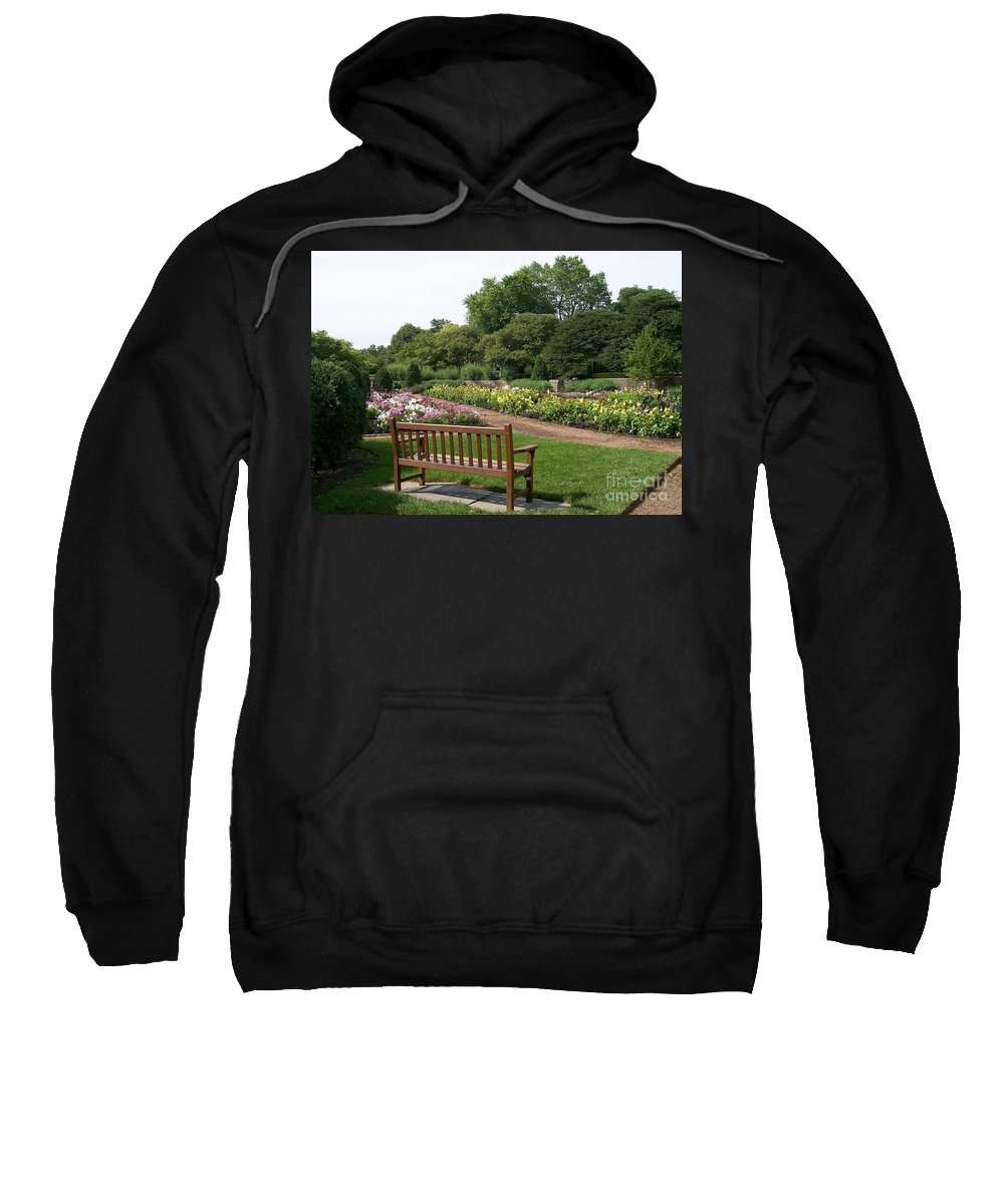 Bench Sweatshirt featuring the photograph View From A Bench by Laurie Eve Loftin