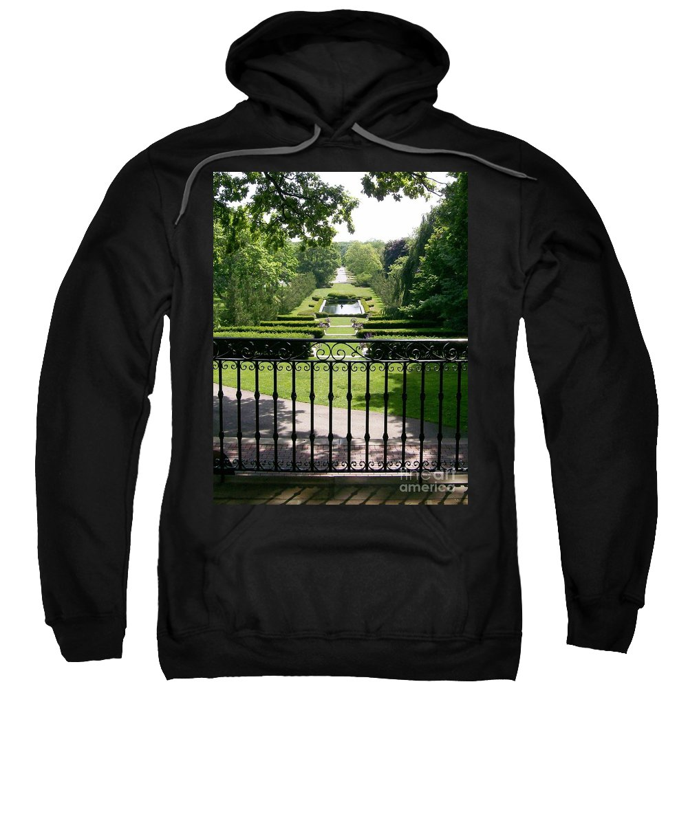 Cantigny Sweatshirt featuring the photograph View From The Jefferson Porch by Laurie Eve Loftin