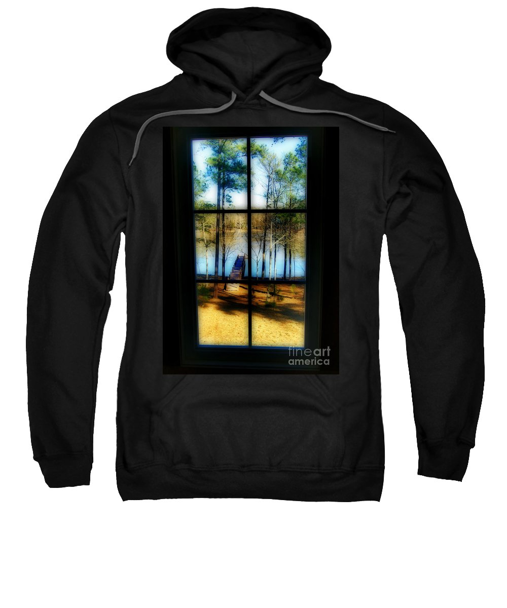 Nature Sweatshirt featuring the photograph View From The Second Floor by Skip Willits