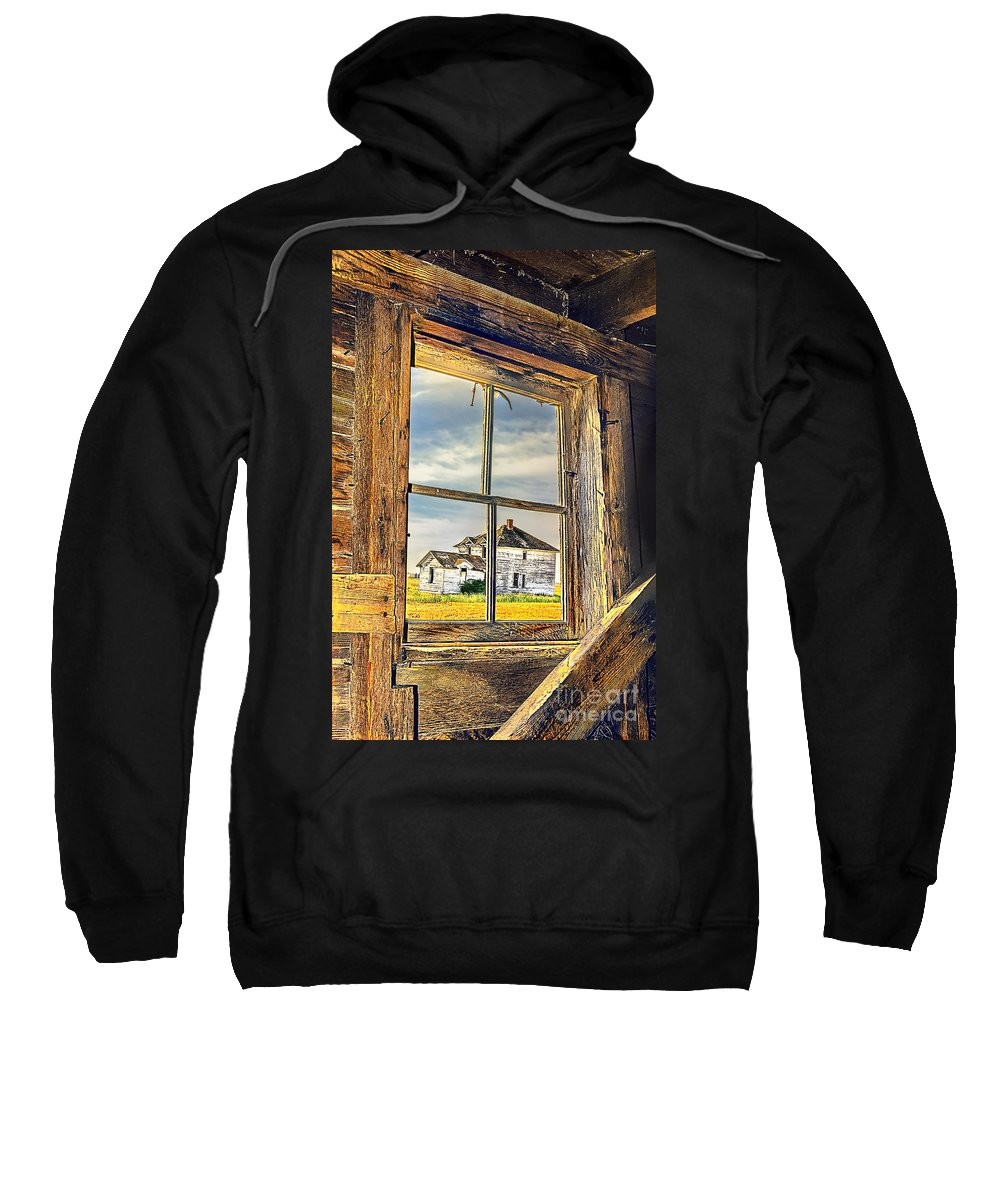 Old Farm Sweatshirt featuring the photograph View From The Stable by Viktor Birkus