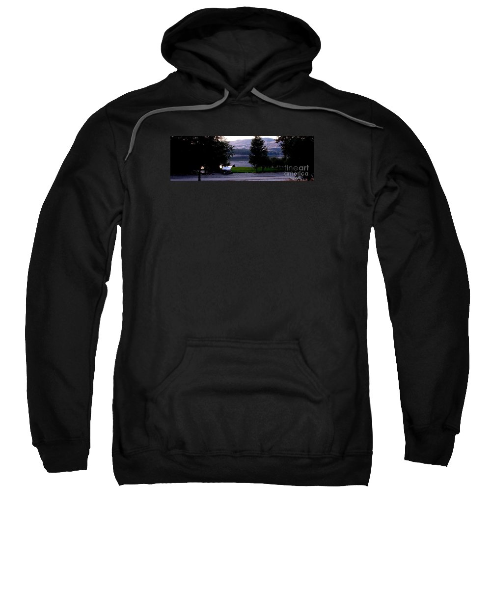 Art For The Wall...patzer Photography Sweatshirt featuring the photograph View To Columbia by Greg Patzer