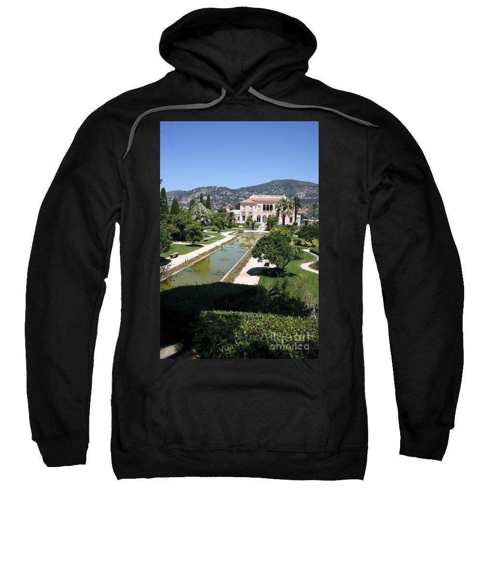 Villa Sweatshirt featuring the photograph Villa Ephrussi De Rothschild And Garden by Christiane Schulze Art And Photography