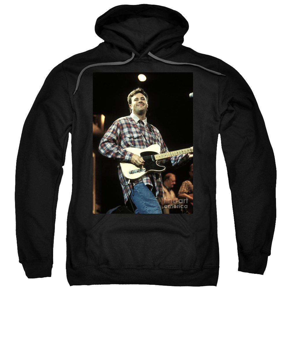 Performing Sweatshirt featuring the photograph Vince Gill by Concert Photos