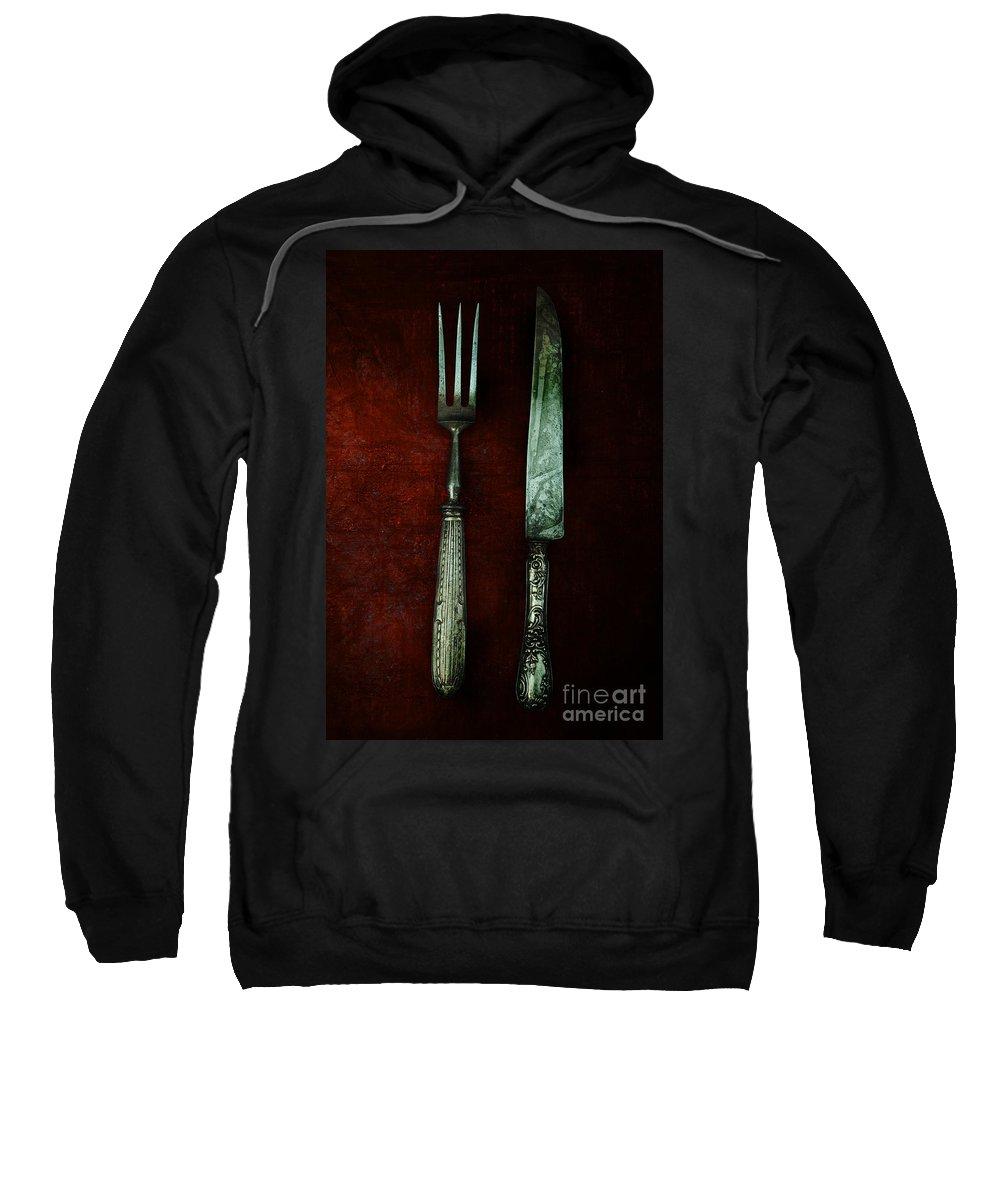 Vertical Sweatshirt featuring the photograph Vintage In Red by Jaroslaw Blaminsky