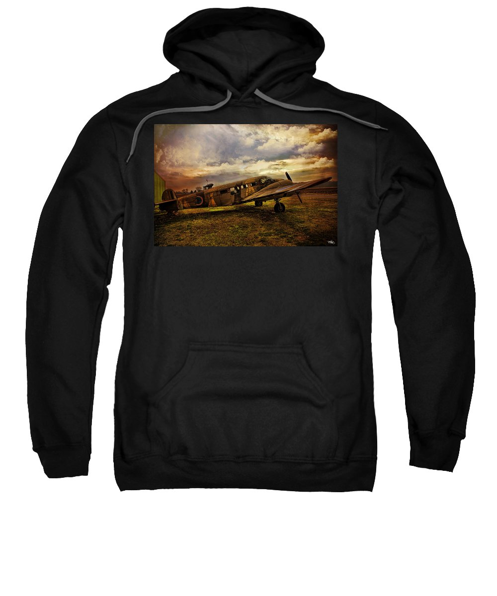 Aeroplane Sweatshirt featuring the photograph Vintage Plane by Evie Carrier