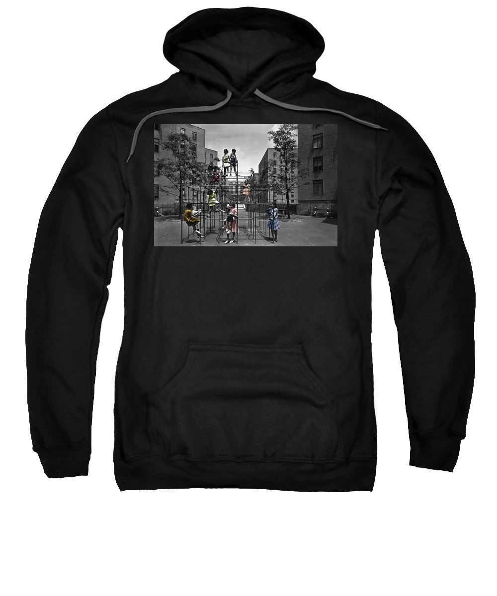 Playground Sweatshirt featuring the photograph Vintage Playground by Andrew Fare