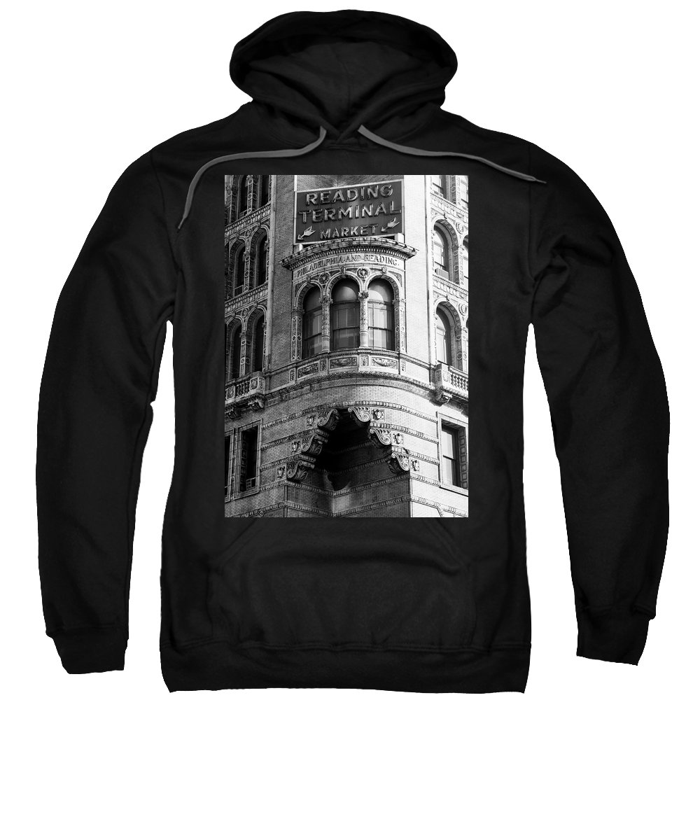 Vintage Sweatshirt featuring the photograph Vintage Reading Terminal Market - Philadelphia by Bill Cannon