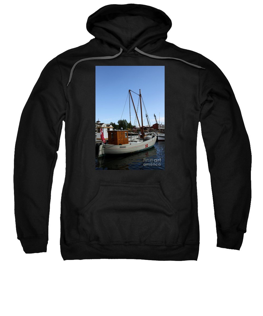 Sailing Boat Sweatshirt featuring the photograph Vintage Sailing Boat - Ct by Christiane Schulze Art And Photography