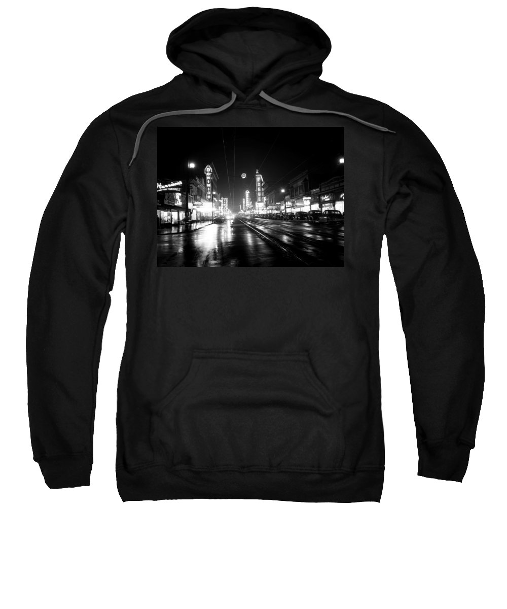 Vancouver Sweatshirt featuring the photograph Vintage Vancouver 1951 by Mountain Dreams
