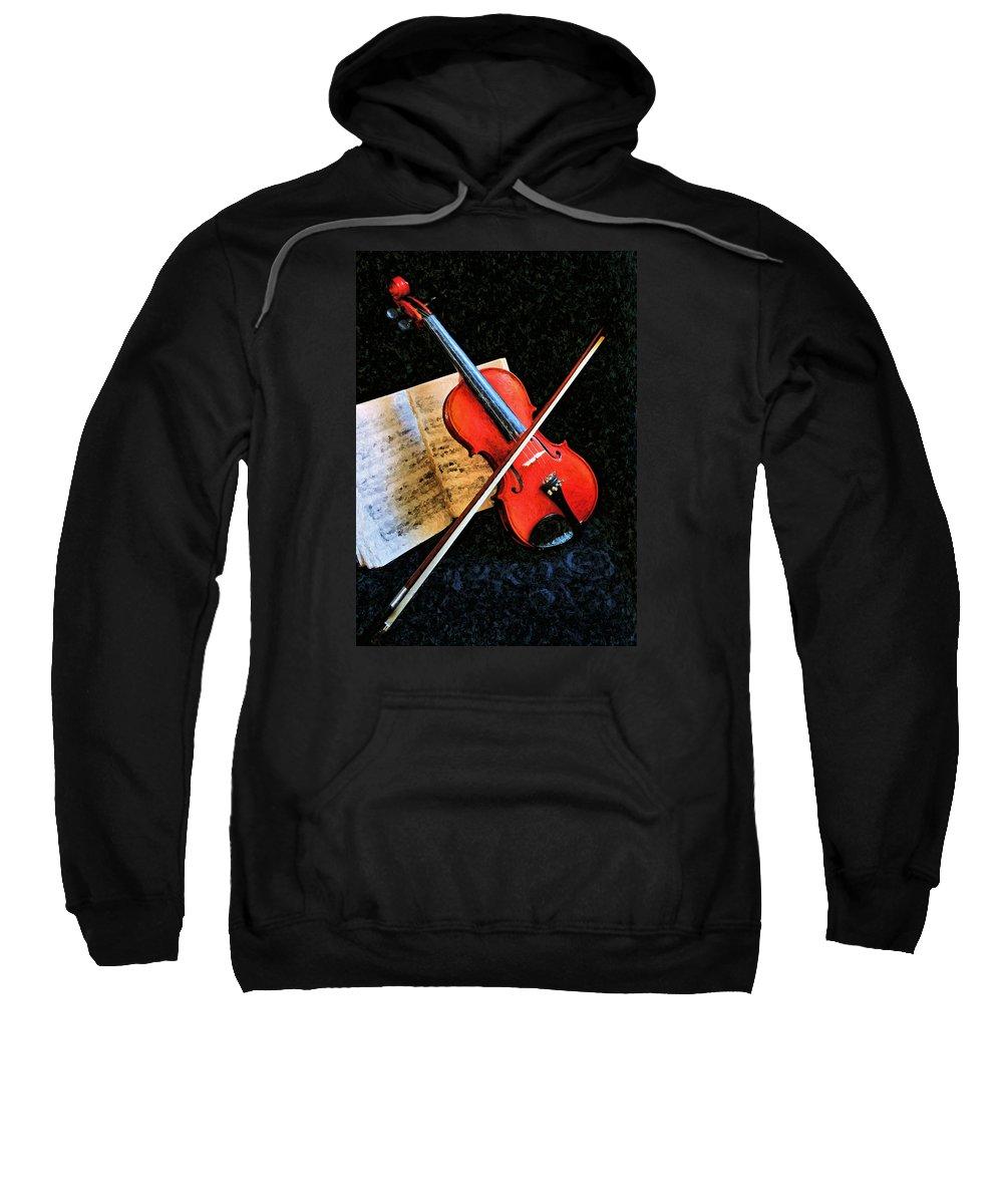 Violin Sweatshirt featuring the photograph Violin Impression Redux by Kristin Elmquist