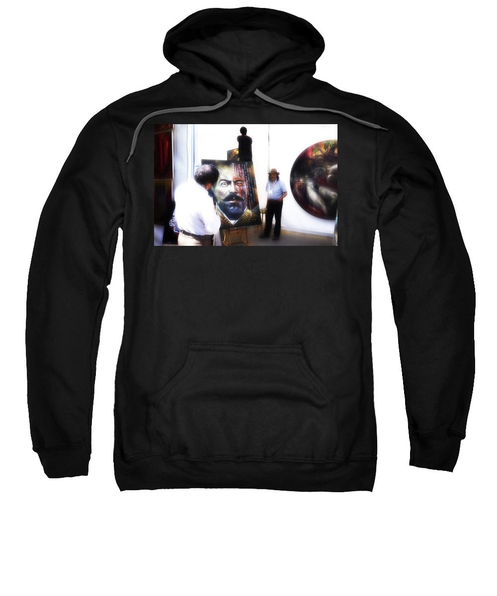 Pancho Sweatshirt featuring the photograph Viva Mexico by Hugh Smith