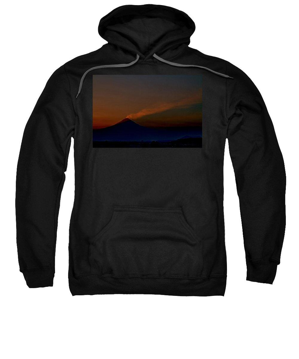 Sunset Sweatshirt featuring the photograph Volcano by Agustin Uzarraga