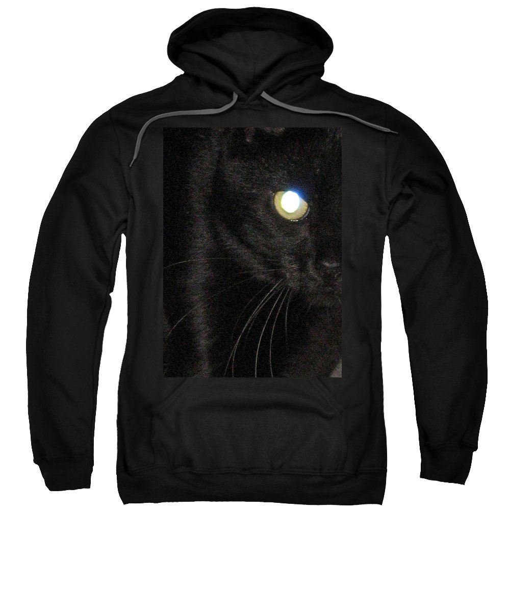 Black Cat Sweatshirt featuring the photograph Voodoo On The Prowl by Dan McCafferty