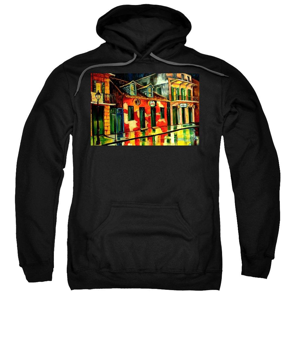 New Orleans Sweatshirt featuring the painting Voodoo Shop by Diane Millsap