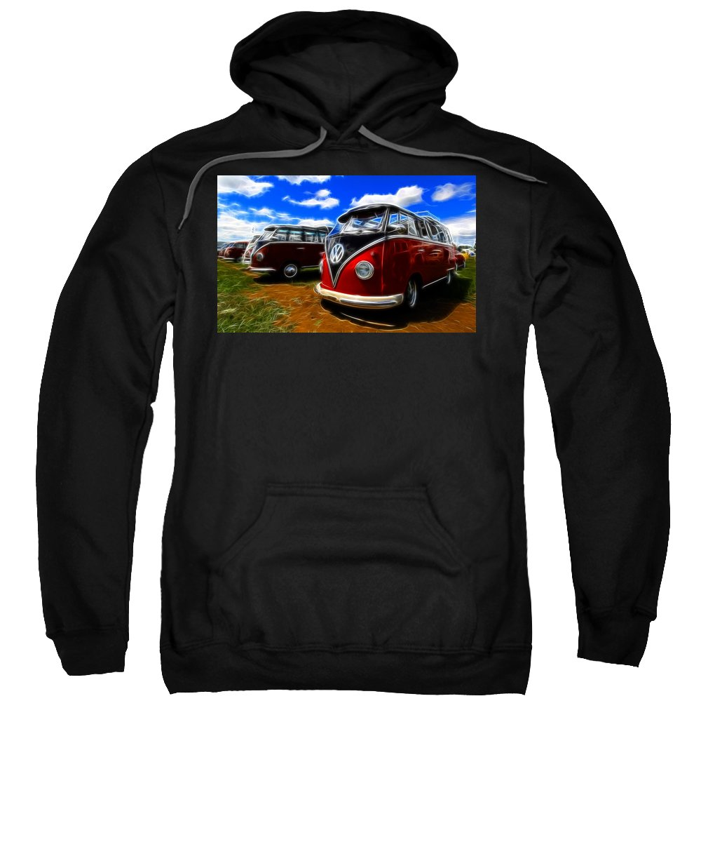 Micro Bus Sweatshirt featuring the photograph Vw Type 2 by Steve McKinzie