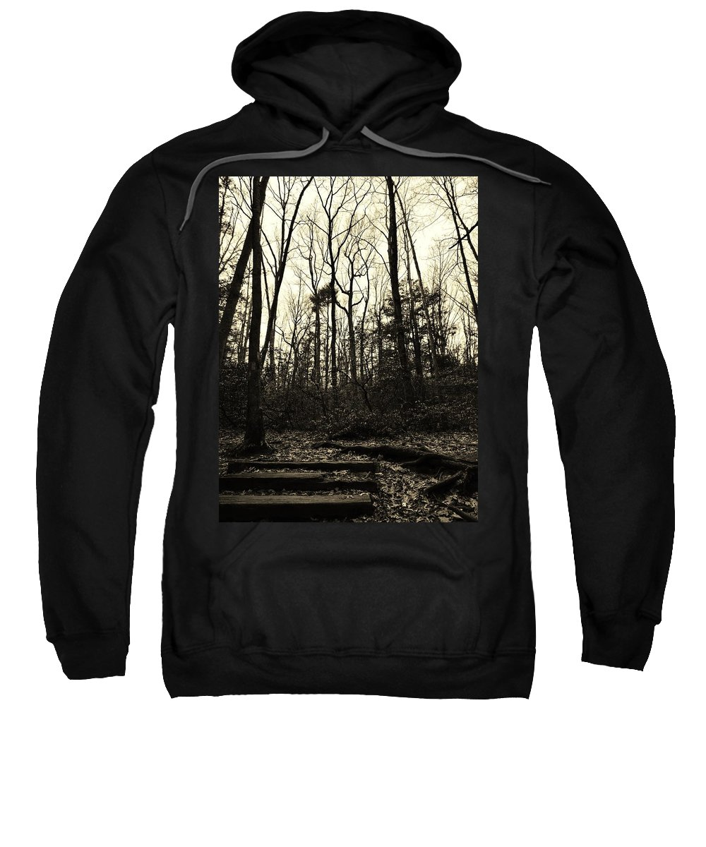 Sepia Sweatshirt featuring the photograph Walk Into Nature by Michele Nelson