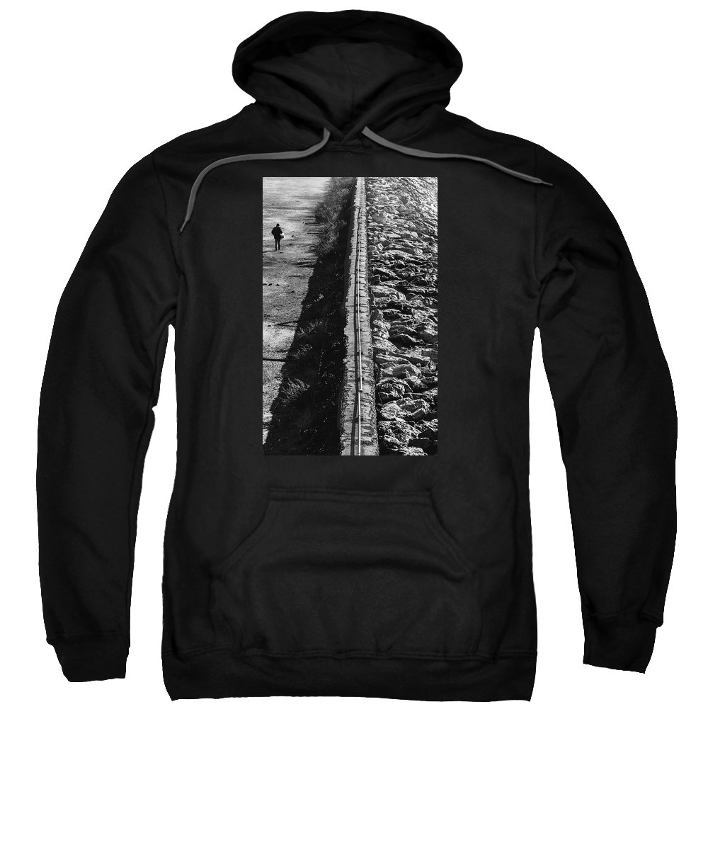 Man Sweatshirt featuring the photograph Walking Alone by Enrico Della Pietra