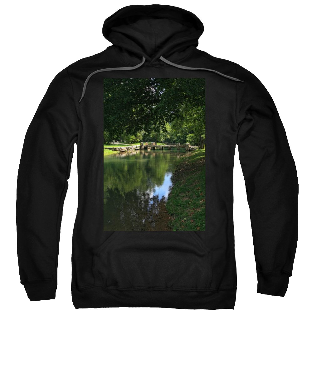 Photo Frames Sweatshirt featuring the photograph Walking Bridge by CE Haynes