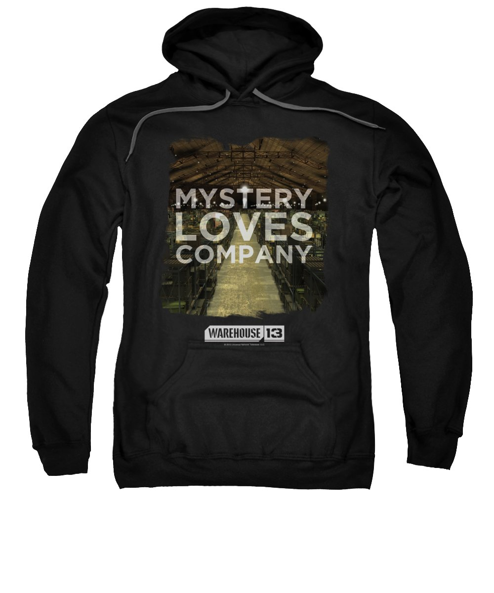 Warehouse 13 Sweatshirt featuring the digital art Warehouse 13 - Mystery Loves by Brand A