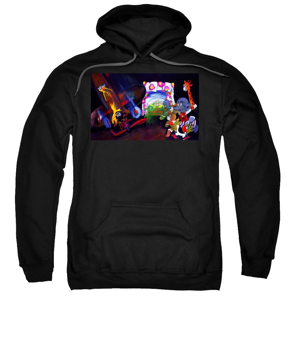 Cartoon Sweatshirt featuring the painting Watch With Mother by Charles Stuart