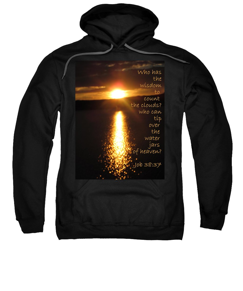 Scripture Sweatshirt featuring the photograph Water Jars Of Heaven by Jewell McChesney