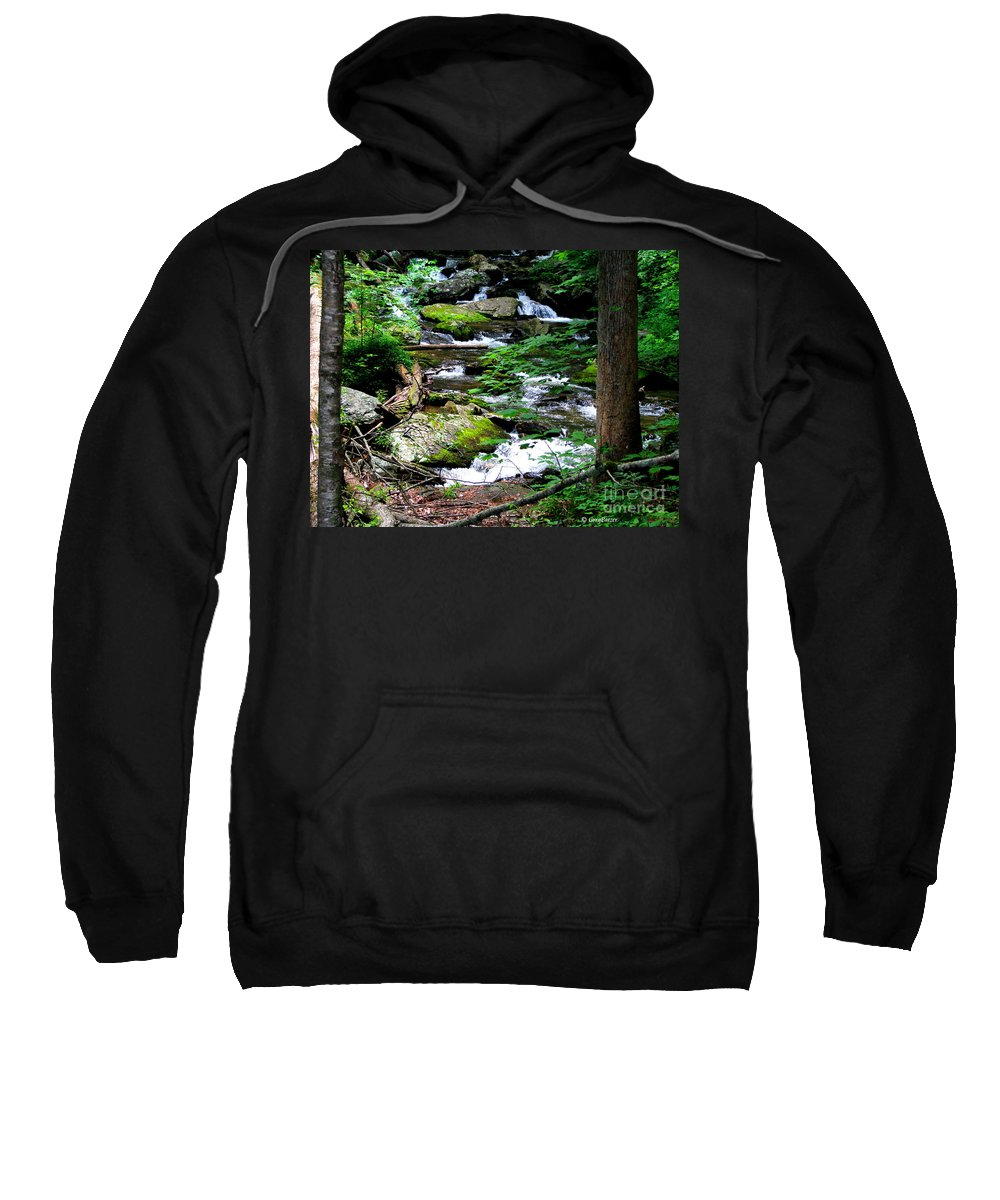 Patzer Sweatshirt featuring the photograph Water Shed by Greg Patzer
