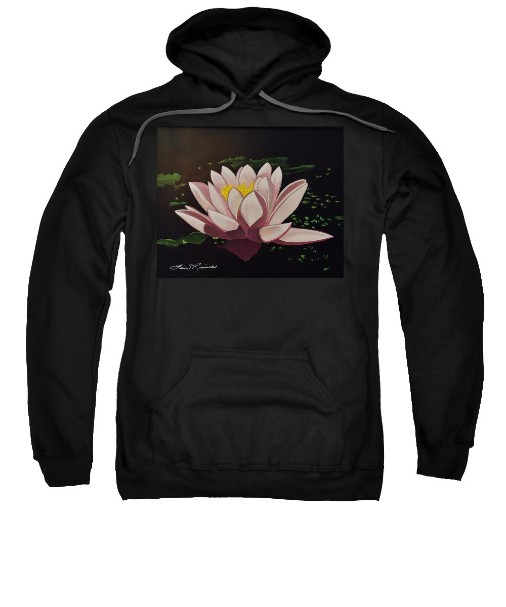 Flowers Sweatshirt featuring the painting Waterlilly by Lois  Rivera