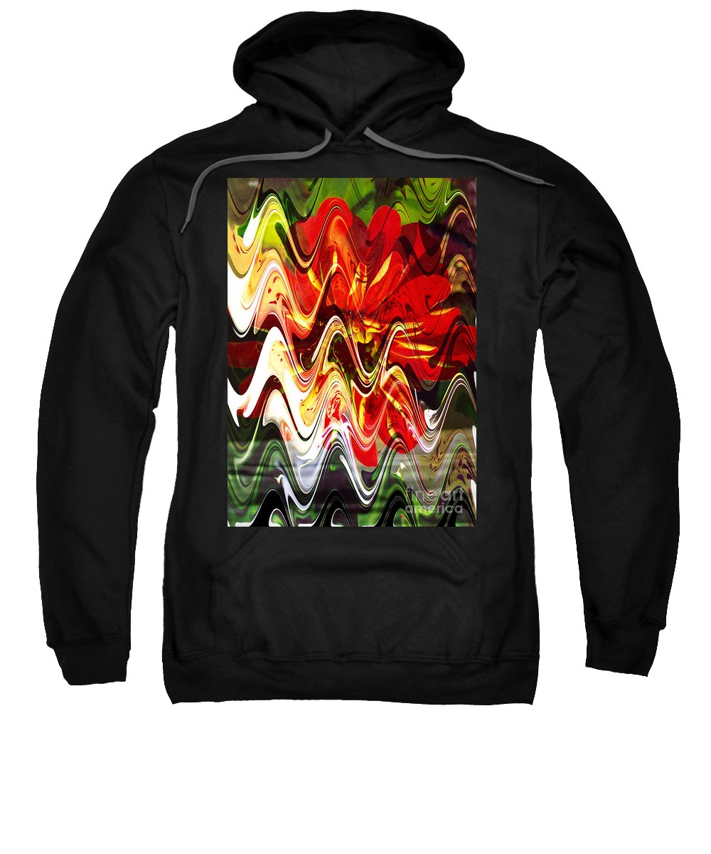Digital Image Sweatshirt featuring the digital art Waves by Yael VanGruber