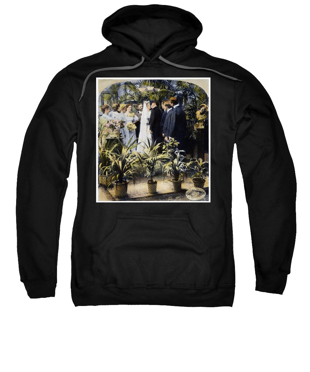 1897 Sweatshirt featuring the photograph Wedding Party, 1897 by Granger