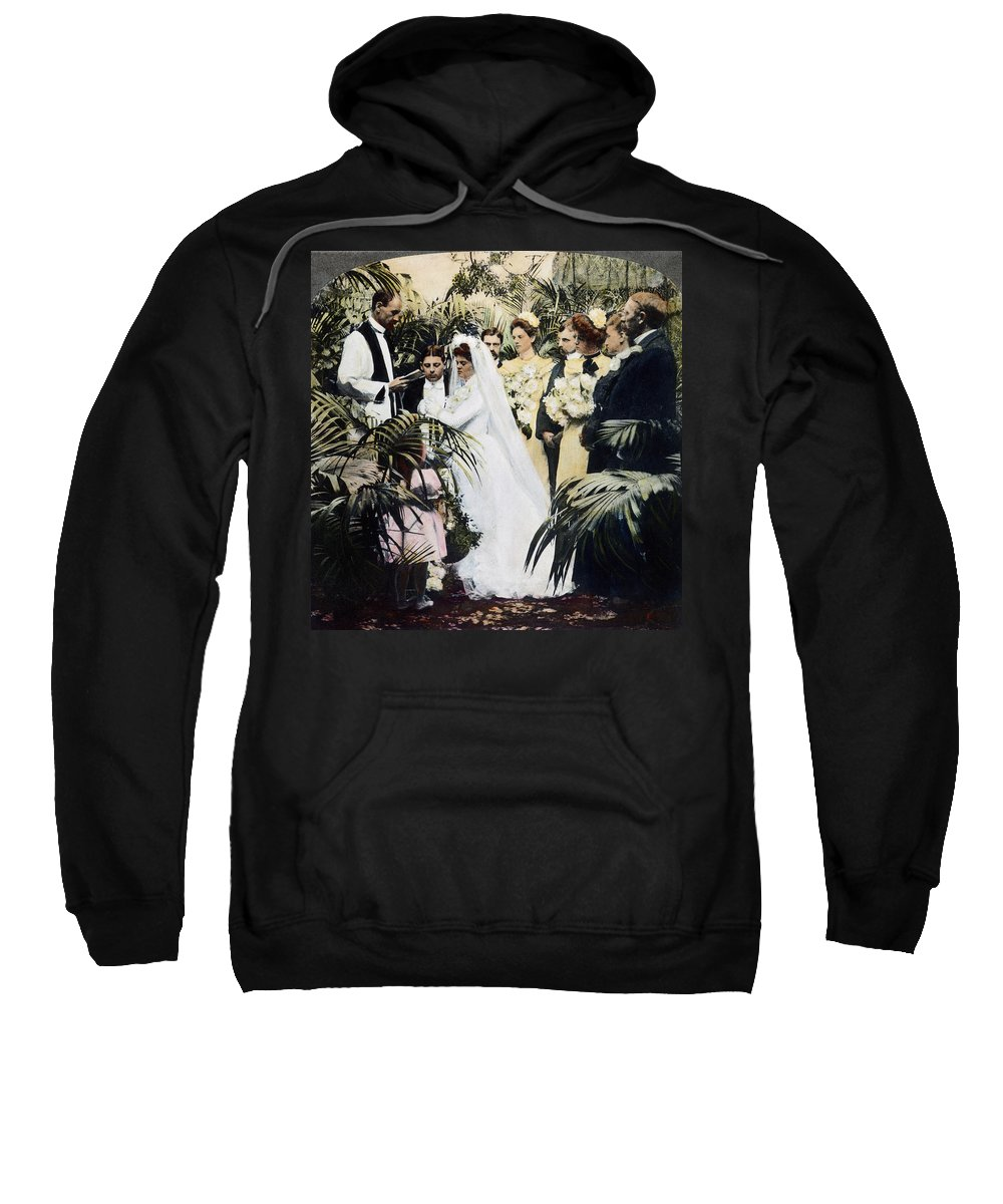 1900 Sweatshirt featuring the photograph Wedding Party, 1900 by Granger