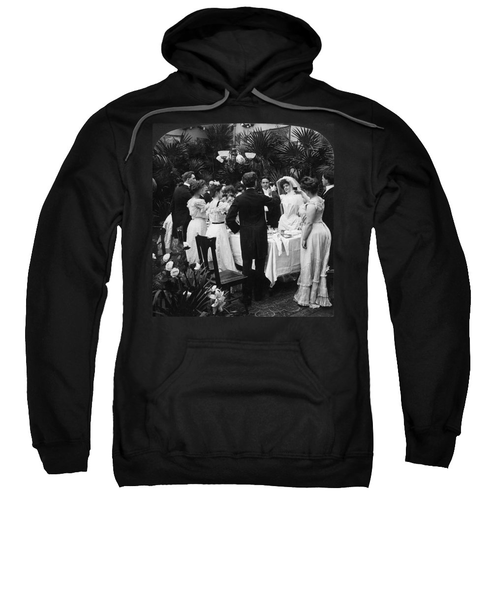 1904 Sweatshirt featuring the photograph Wedding Party, 1904 by Granger