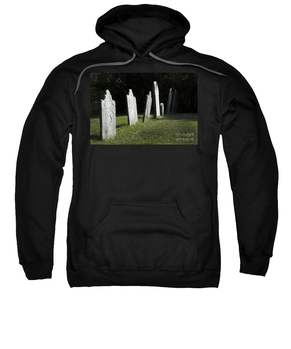 Cemetery Sweatshirt featuring the photograph What History They Must Have Seen by Paul W Faust - Impressions of Light