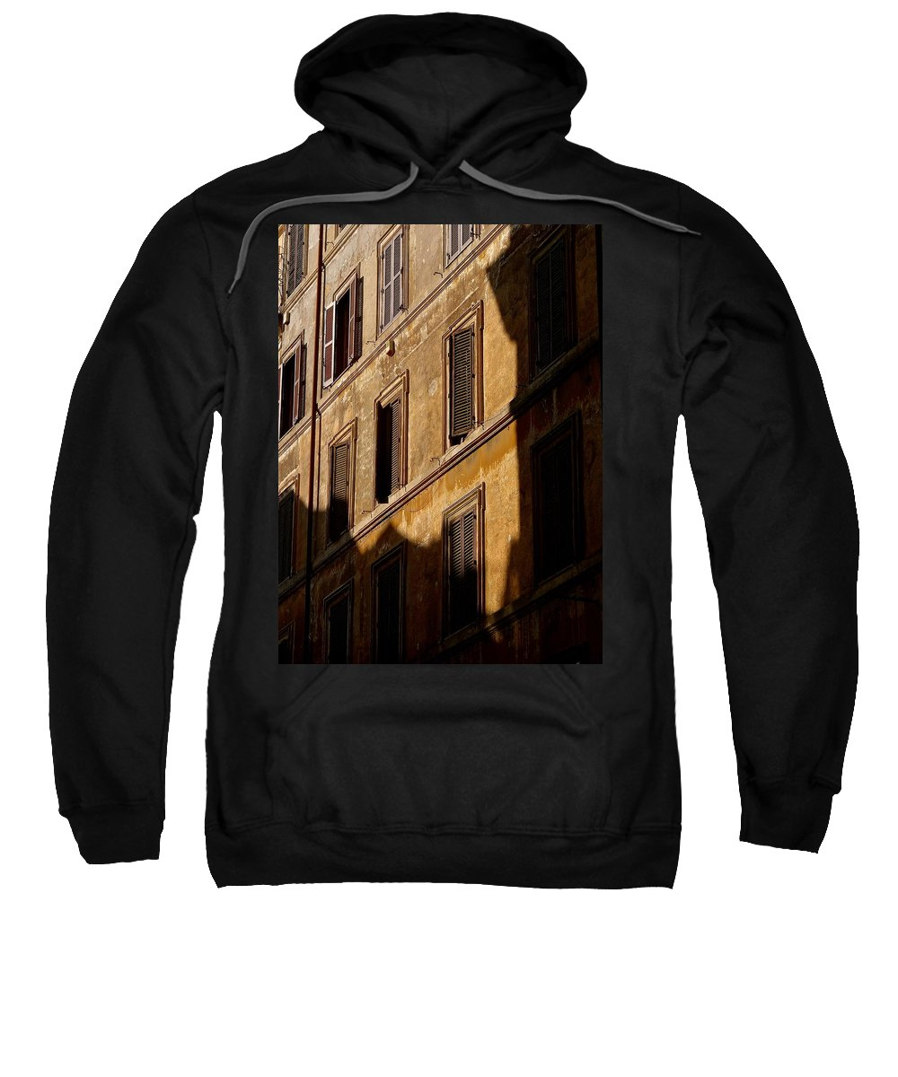 Rome Sweatshirt featuring the photograph When Shadows Fall by Ira Shander