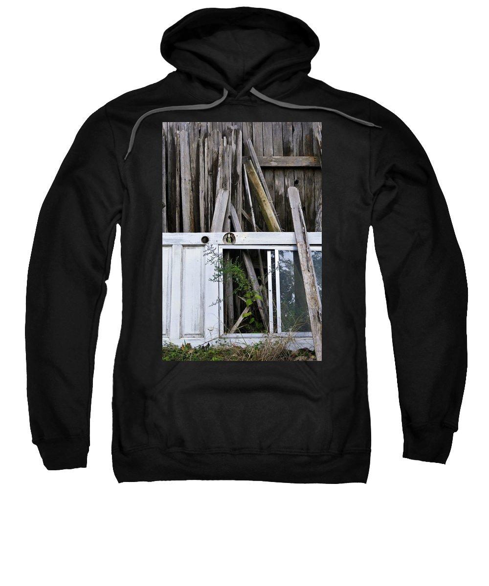 White Door Sweatshirt featuring the photograph White Door by Skip Hunt
