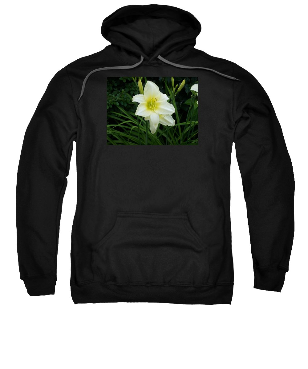 Flowers Photographs Sweatshirt featuring the photograph White Lily by Catherine Gagne
