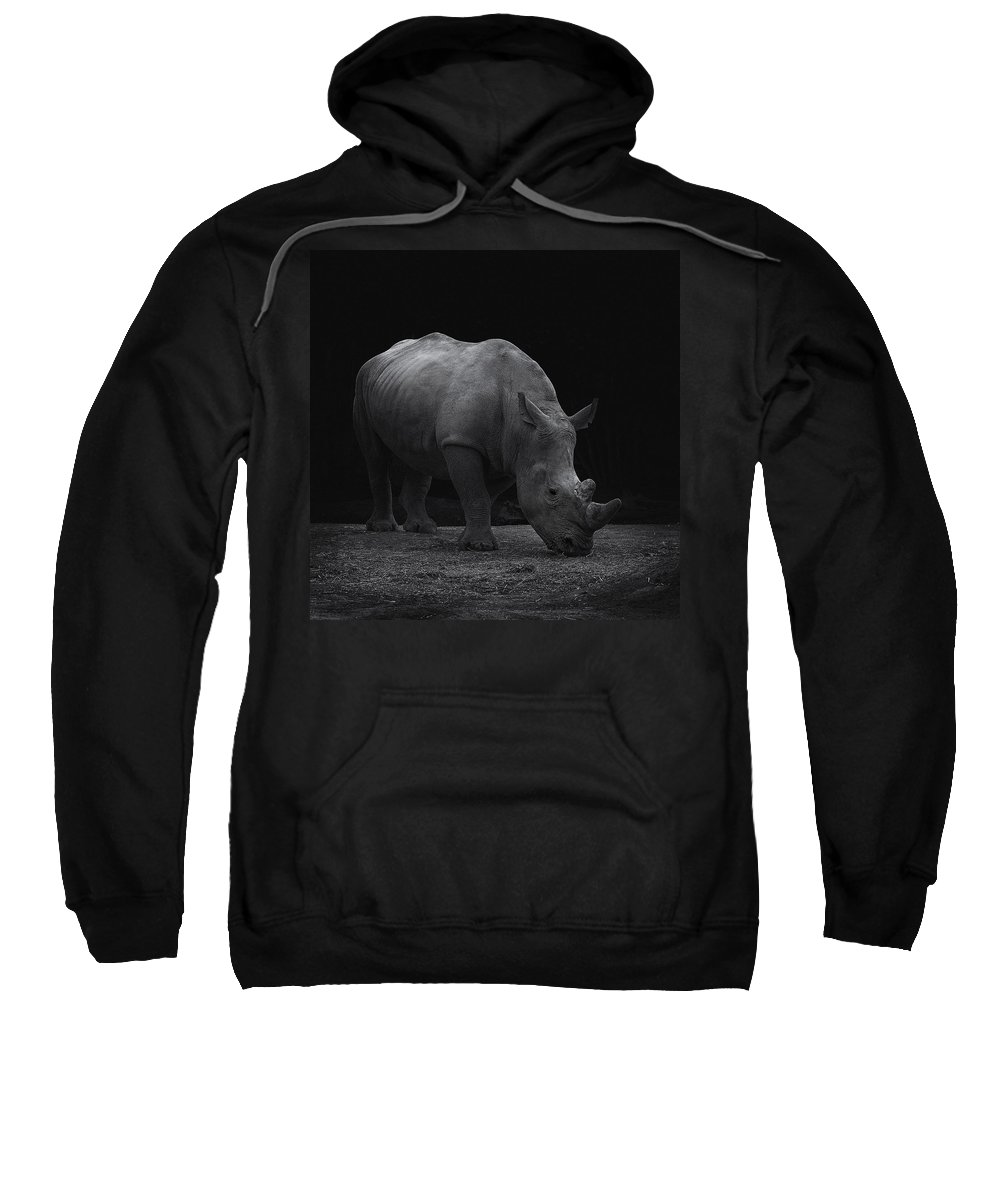 Africa Sweatshirt featuring the photograph White Rhinocero by TouTouke A Y