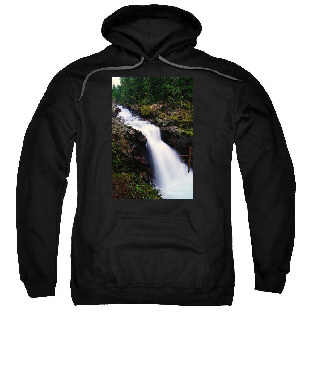 Waterfalls Sweatshirt featuring the photograph White Water Falling by Jeff Swan