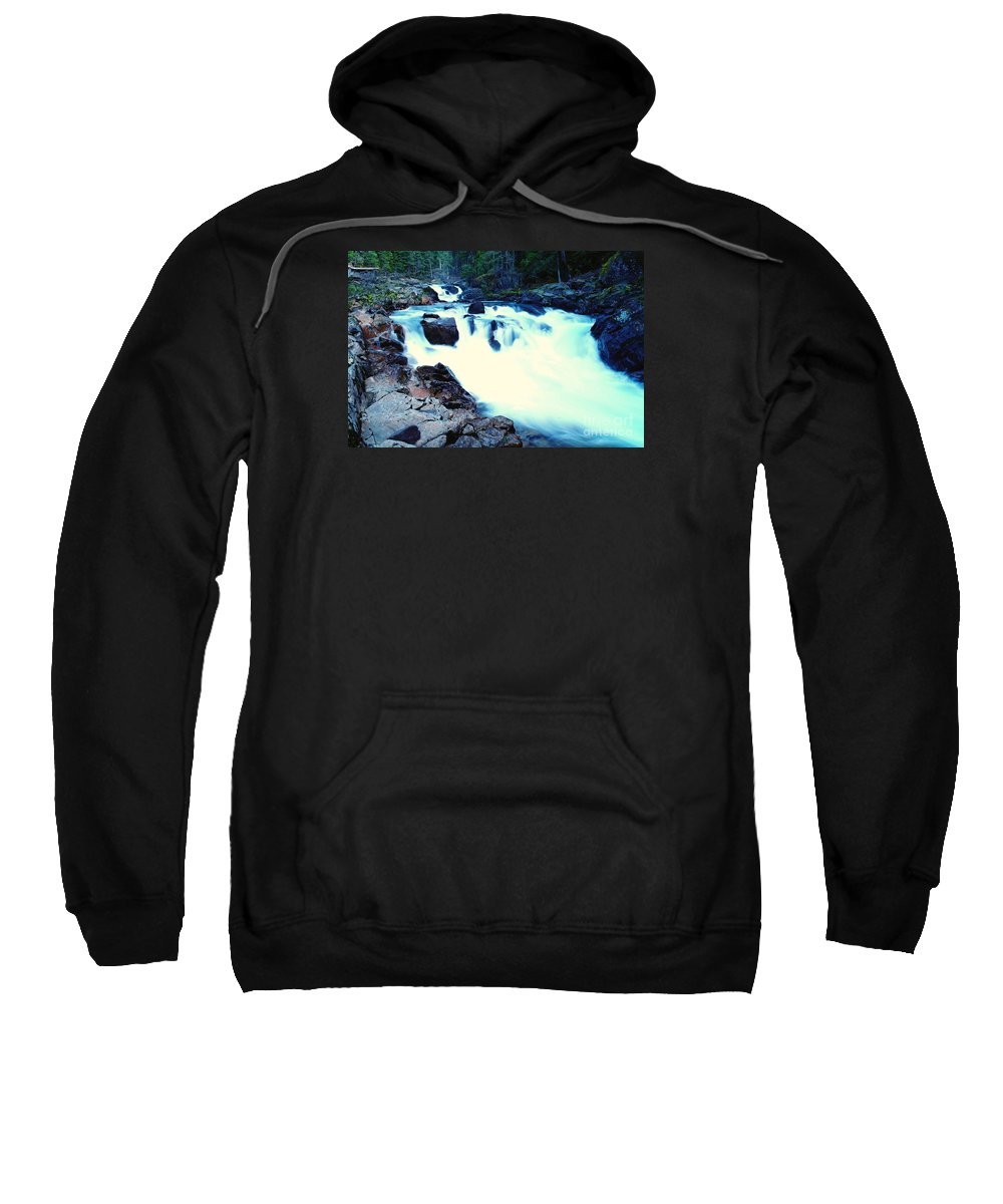 Water Sweatshirt featuring the photograph White Water On The Ohanapecosh River by Jeff Swan