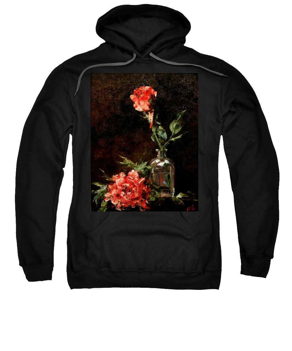 Floral Sweatshirt featuring the painting Wild Irish by Jim Gola