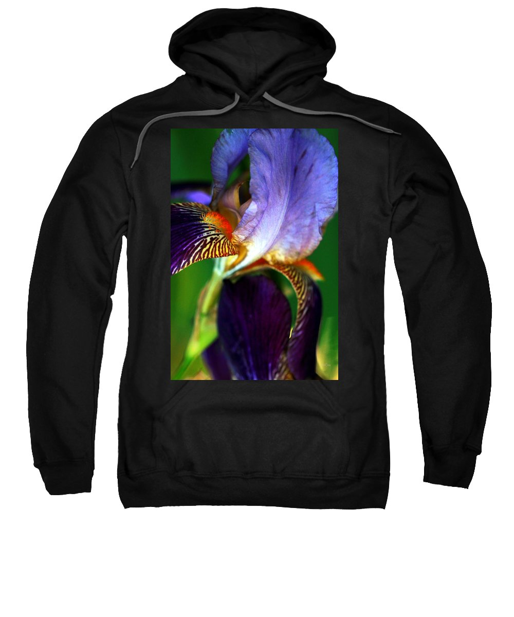 Iris Sweatshirt featuring the photograph Wildly Colorful by Deborah Crew-Johnson