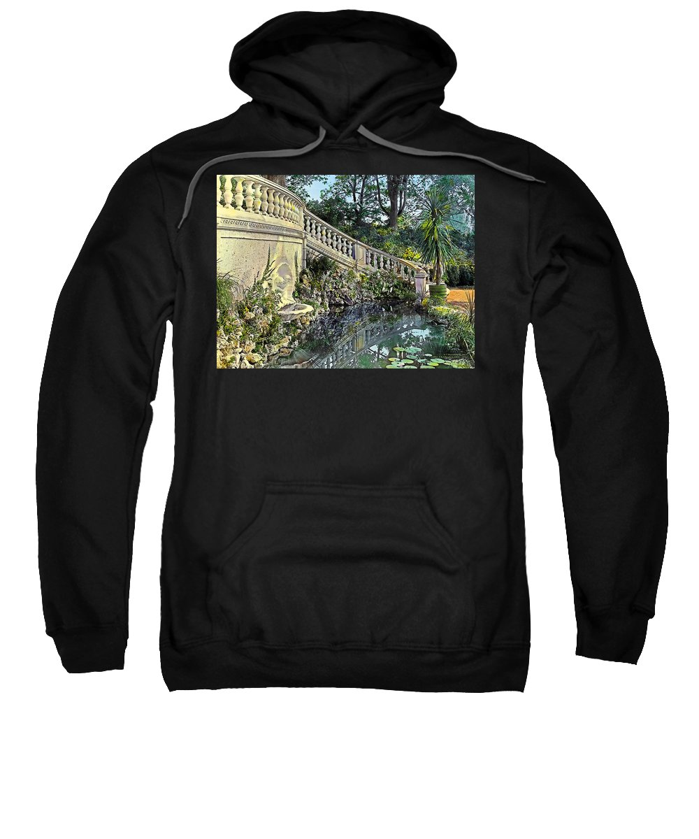 Tranquil Sweatshirt featuring the painting Winding Staircase by Terry Reynoldson