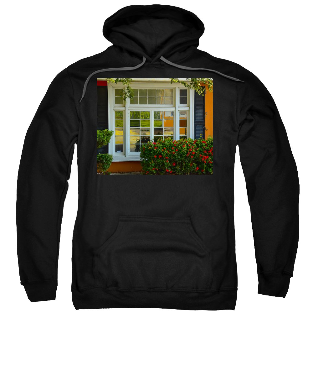 Window Sweatshirt featuring the photograph Window Of Many Colors by Kenneth Blye