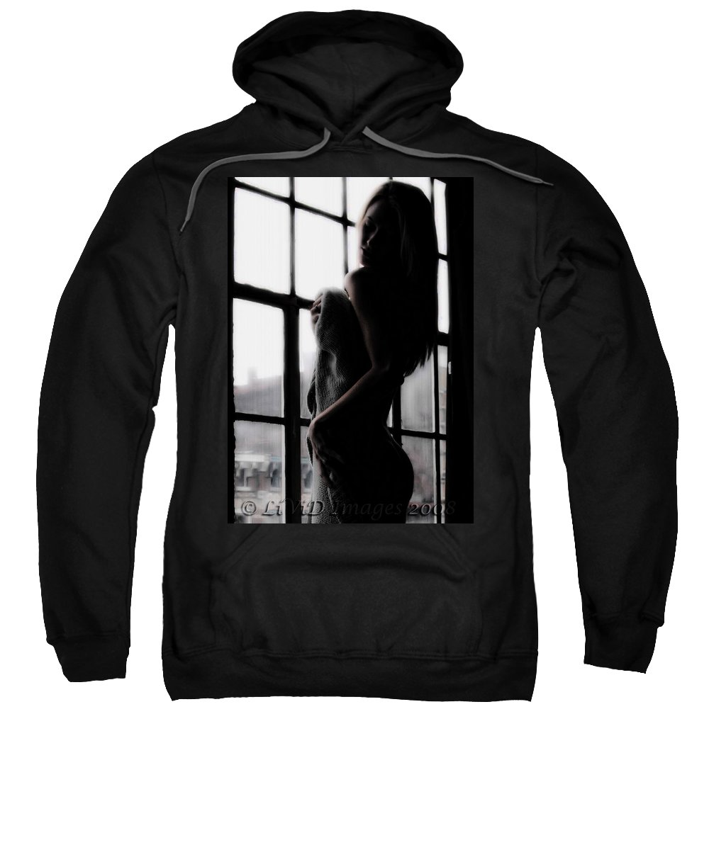 Serne Sweatshirt featuring the photograph Window With A View by Kristie Bonnewell