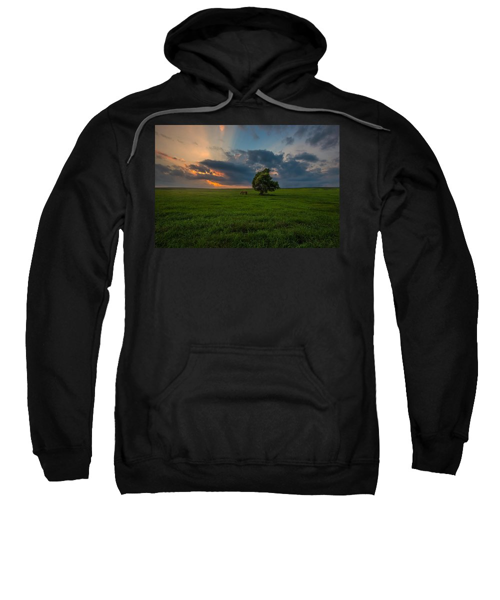 #clouds Sweatshirt featuring the photograph Windows Sd by Aaron J Groen