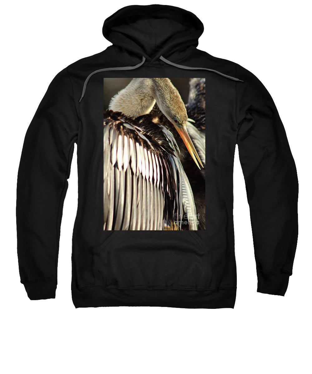 Bird Sweatshirt featuring the photograph Wings by David Rucker
