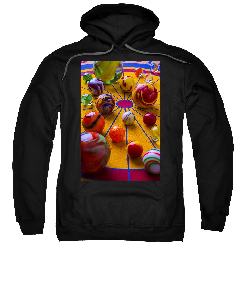 Marbles Sweatshirt featuring the photograph Winning At Marbles by Garry Gay