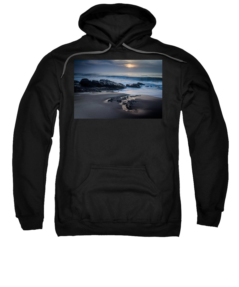 Sunset Sweatshirt featuring the photograph Winter Arriving by Ernesto Santos